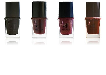E.L.F. New Dark Nailpolish Shades