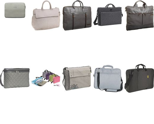 Grey and White Laptop Bags