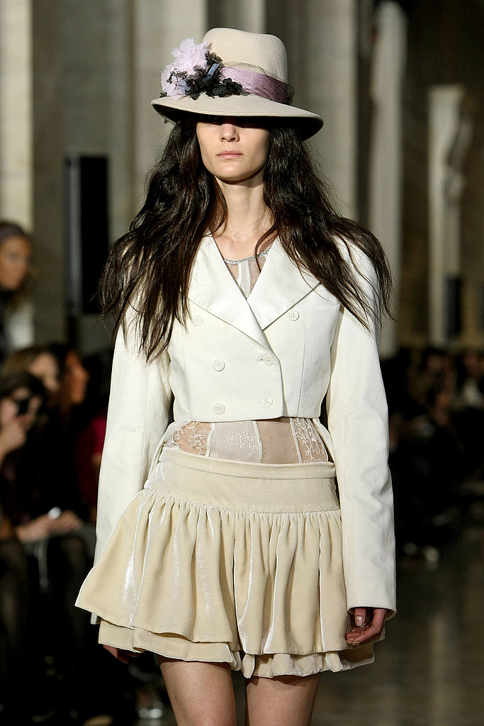 The proportion play in this ivory ensemble is noteworthy