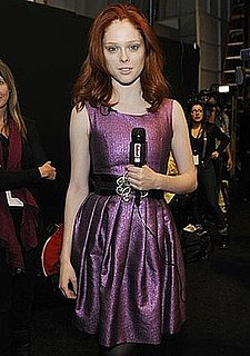 Model Coco Rocha Does Back Stage Interviews For E! News