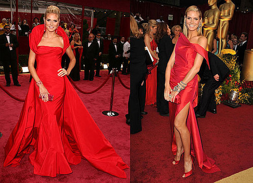 Compare & Contrast: Heidi Klum, Oscar's Lady in Red