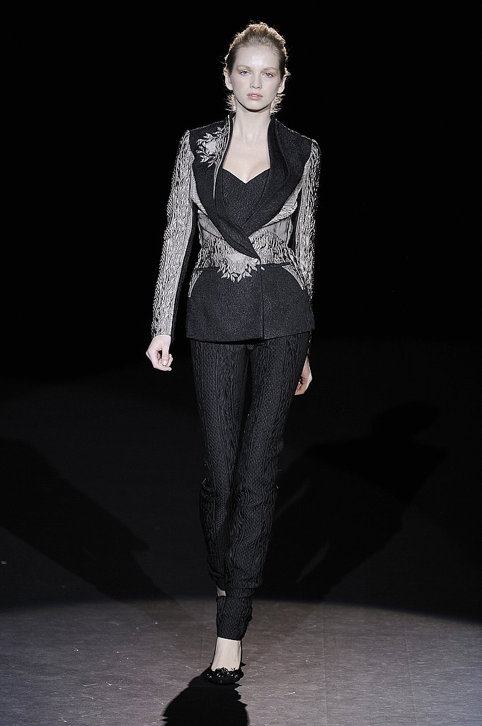 Cool as Ice Lace and a Victorian Cut Jacket at Carolina Herrera
