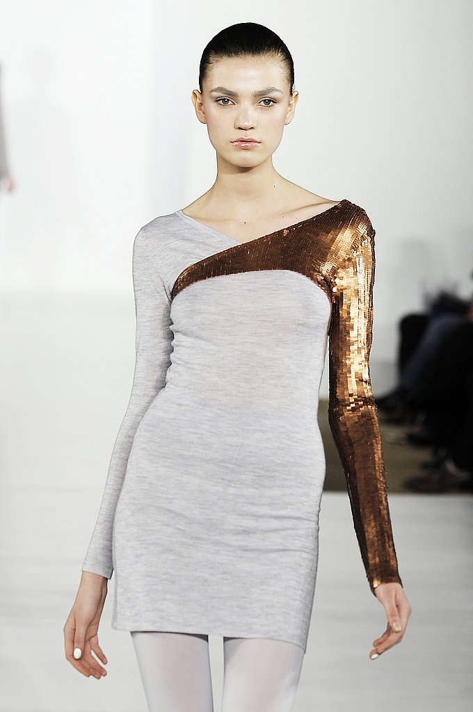 A Slick Sequin Sleeve Splash at Cushnie et Ochs