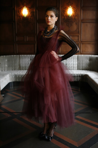Monique Lhuillier's Blood-Dyed Tulle Ballerina