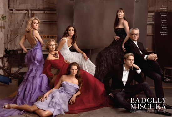 Fab Ad: Badgley Mischka Celebrates 20 Years With A Star Studded Campaign