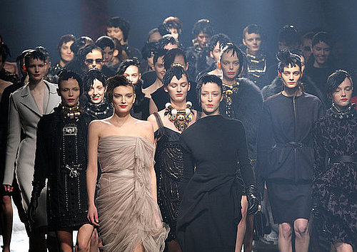 Fashion Week Quickie: Model Stampede at Lanvin!