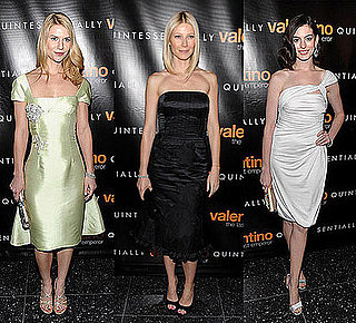 Claire Danes, Gwyneth Paltrow, and Anne Hathaway All Wear Valentino to The Premiere of Valentino: The Last Emperor in New York