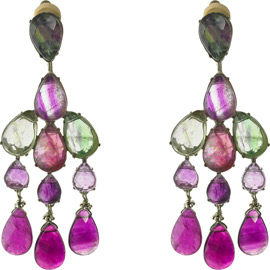 Fluorite Chandelier Earrings by Siman Tu ($300)