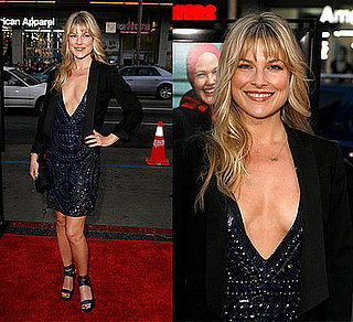 "Actress Ali Larter Wears Low-Cut Brian Reyes Navy Embroidered Dress to HBO Films' ""Grey Gardens"" Los Angeles Premiere"