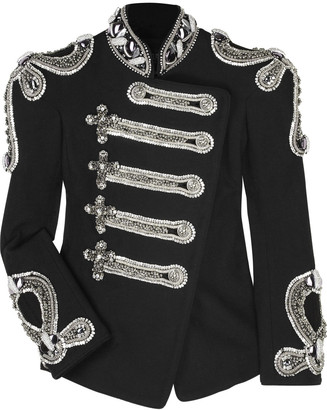 The Look For Less: Balmain Crystal-Embellished Jacket