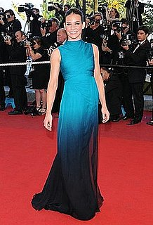 Lost Star and New L'Oreal Face Evangeline Lily Wears Turquoise Valentino at the Cannes Film Festival