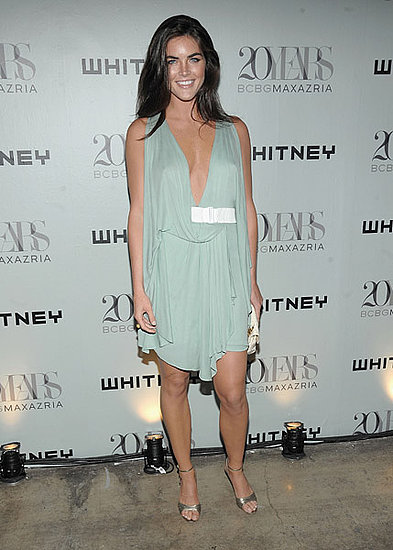 Hilary Rhoda in Max Azria