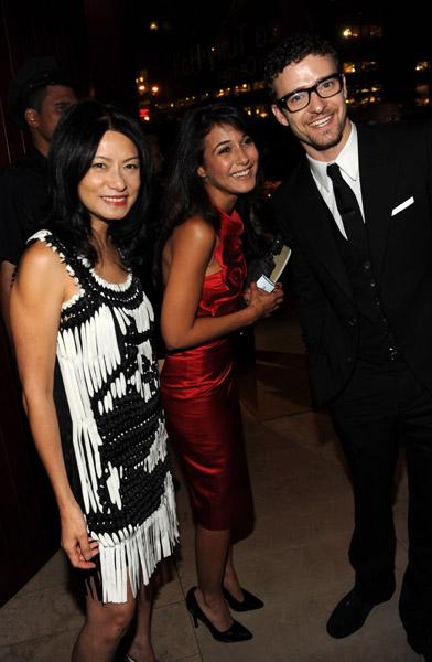 Vivienne Tam, Emmanuelle Chriqui, & Justin Timberlake