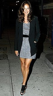 Kelly Klein Attends the Opening Ceremony and Black Frame CFDA Awards Afterparty in Striped Dress and Blazer