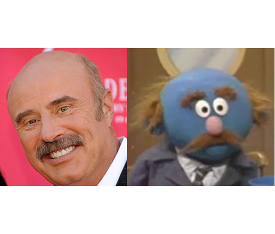 Dr. Phil and a Muppet