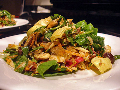 Recipe For Spring Salad With Artichokes, Tuna, Mushrooms, and Thyme Vinaigrette