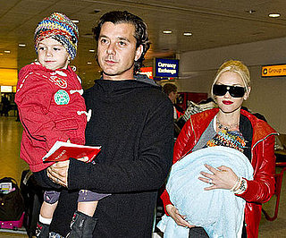 Photo of Gwen Stefani and Gavin Rossdale Arriving in London With Sons Kingston and Zuma