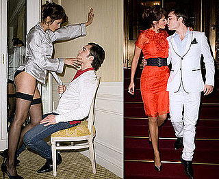 Photo Shoot of Ed Westwick and Helena Christensen For Harper's Bazaar