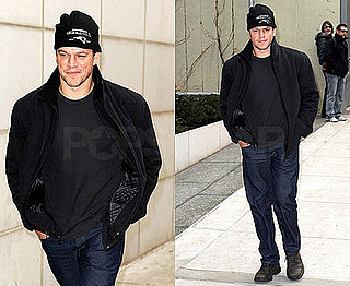 Photos of Matt Damon in NYC 2009-02-13 07:45:00