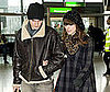 Photo of Keira Knightley and Rupert Friend at London's Heathrow Airport