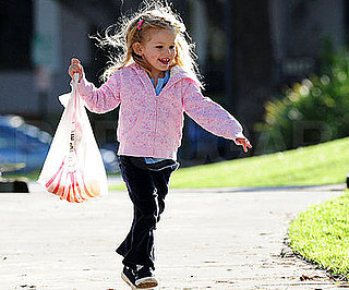 Photo of Violet Affleck at a Park With Her Grandparents