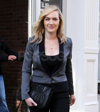 Photos of Kate Winslet Taking Daughter Mia to School and Stopping By The View