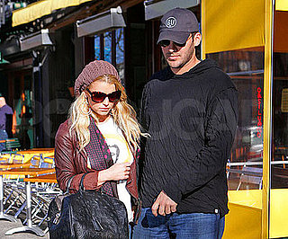 Photo of Jessica Simpson and Tony Romo Leaving NYC's Da Silvano