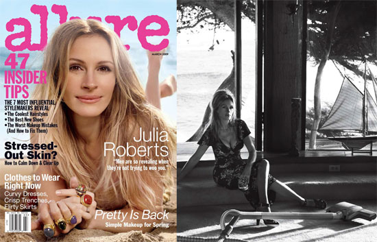 Julia Roberts on March Allure