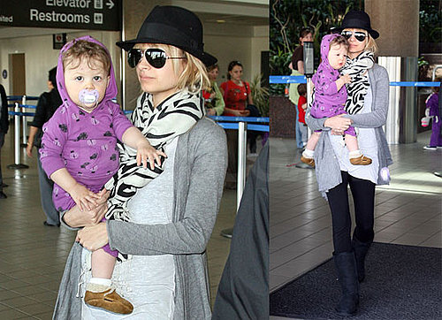 Photos of Nicole Richie and Harlow Madden Returning to LAX