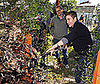 Photo of Jake Gyllenhaal Planting Trees for the Global Green National Green Schools Initiative