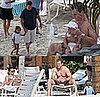 Photos of Matt Damon Shirtless in the Caribbean With Luciana Damon, Isabella Damon, Gia Damon