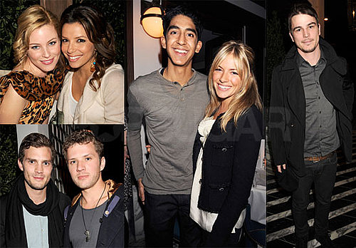 Photos of Sienna Miller, Dev Patel, Ryan Phillippe, Josh Hartnett, Ginnifer Goodwin, Eva Longoria at a Pre-Oscars Party