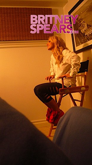 Britney Spears on Set