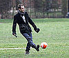 Photo of Jude Law Playing Soccer in London