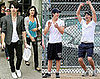 The Jonas Brothers Play Softball