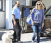 Photo of Drew Barrymore Going into an Editing Studio with her Dog in LA
