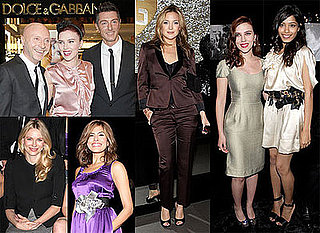 Photos of Scarlett Johansson, Freida Pinto, Naomi Watts, Eva Mendes and Kate Hudson at the Dolce & Gabbana Festivities