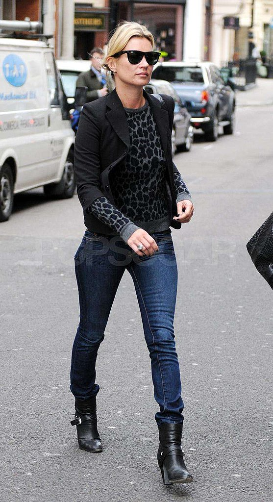 Kate Moss out in London