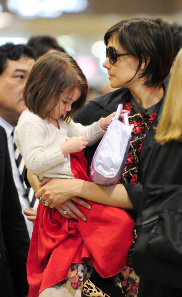 Tom, Katie, and Suri in Japan