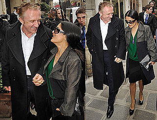 Photos of Salma Hayek and Husband Francois-Henri Pinault at the Balenciaga Show During Paris Fashion Week