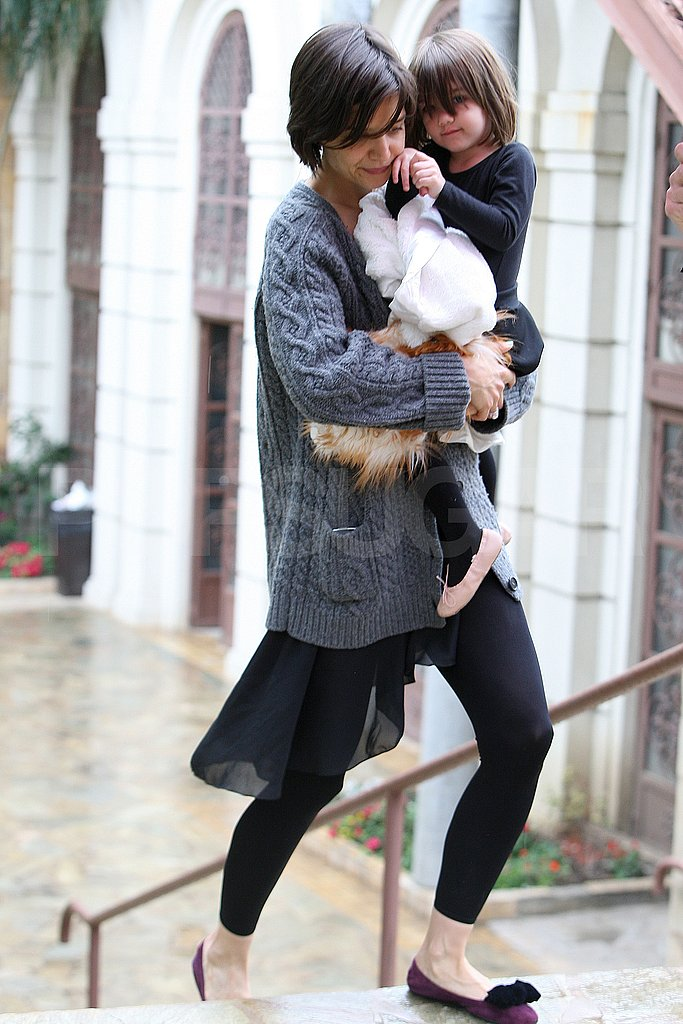 Katie and Suri in the Rain