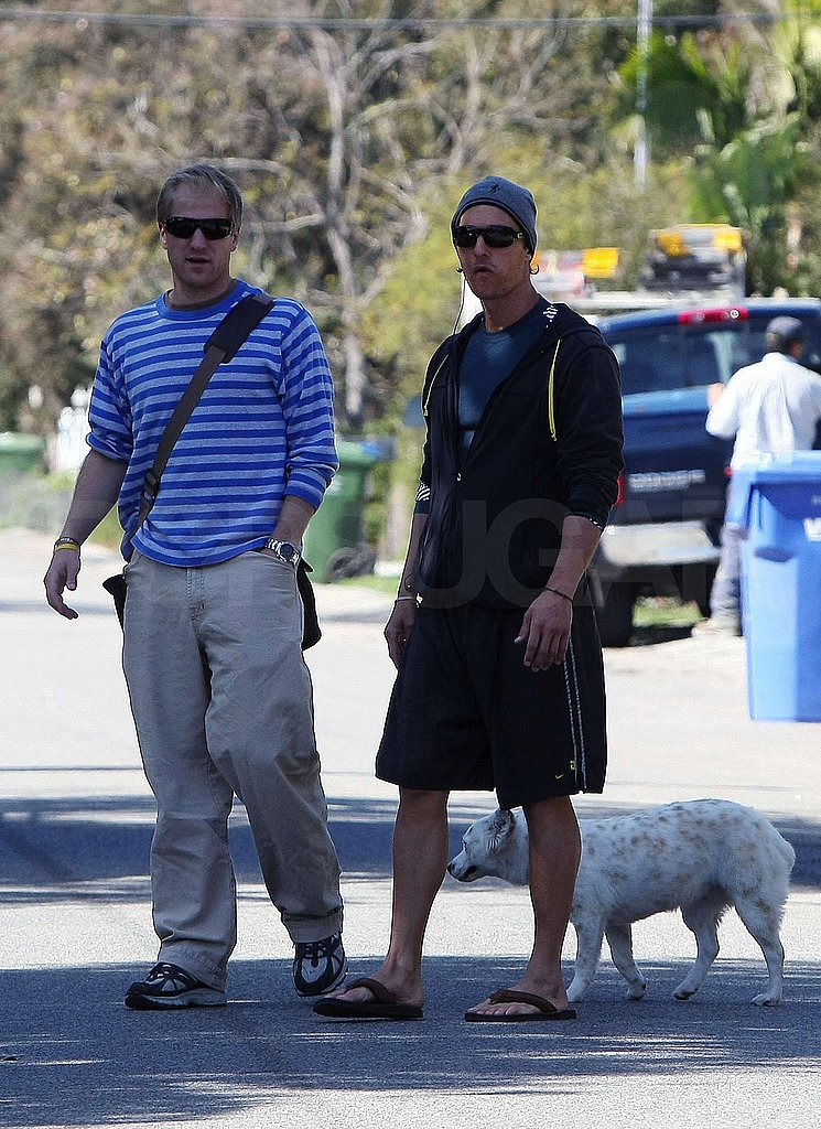 Matthew McConaughey and Levi on the Beach