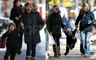 Photos of Michelle Williams and Matilda Ledger Out For a Walk in Snowy Brooklyn
