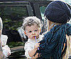 Photo of Nicole Richie and Joel Madden's Daughter Harlow Playing with a Straw in LA
