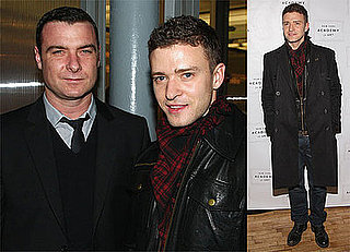 Photos of Justin Timberlake and Liev Schreiber, Videos of Justin on Late Night With Jimmy Fallon Doing John Mayer Impression