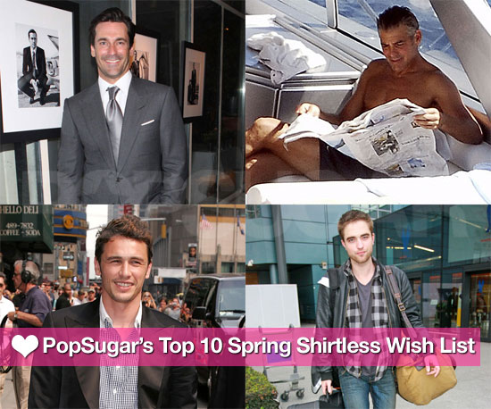 PopSugar Picks: Our Top 10 Spring Shirtless Wish List