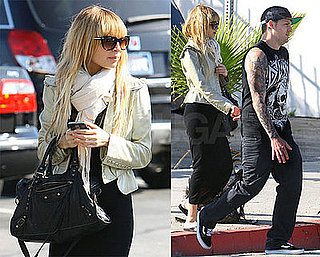 Photos of Nicole Richie and Joel Madden At an Office Building in LA