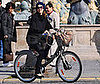 Photo of Jessica Alba Riding a Bike in Paris