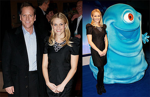 Photos of Reese Witherspoon and Kiefer Sutherland in London Promoting Monsters vs. Aliens