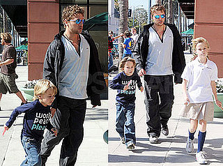 Photos of Ryan Phillippe Out with His Kids Ava and Deacon in LA
